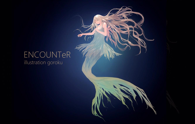 Photo wallpaper girl, mermaid, anime, art, under water, goroku