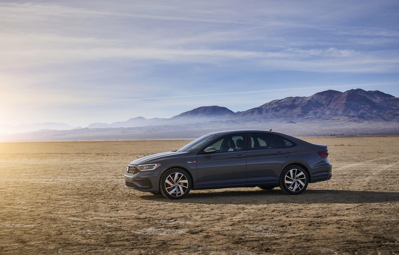 Photo wallpaper Volkswagen, Jetta, sedan, side view, GLI, 2019