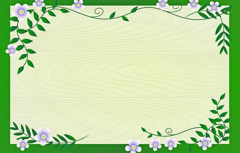 Photo wallpaper postcard, template, blank
