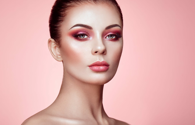Wallpaper Pink Makeup Sponge Retouching Beautiful Woman Face Images For Desktop Section Devushki Download