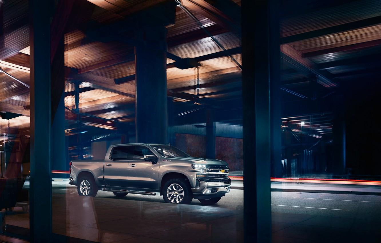 Photo wallpaper Chevrolet, Pickup, Silverado, Z71, Trail Boss, 2019, LT