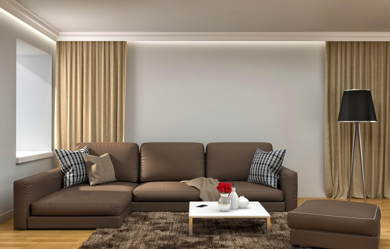 Photo wallpaper sofa, interior, table, modern, living room, sofa, modern