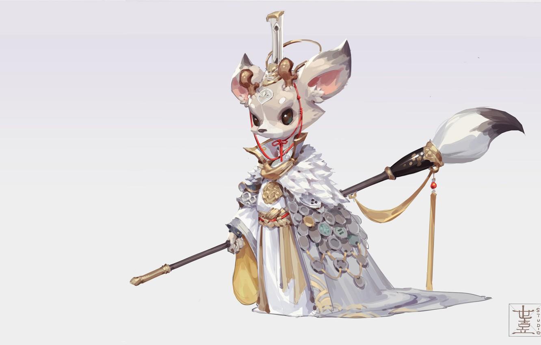 Photo wallpaper fantasy, art, brush, Queen, children's, M ZM, White Deer