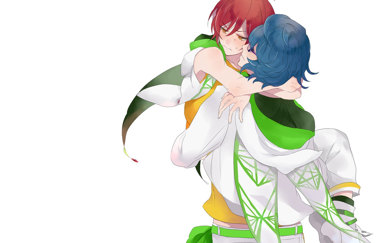 Photo wallpaper hugs, guys, two, Ensemble Stars!, Ensemble stars
