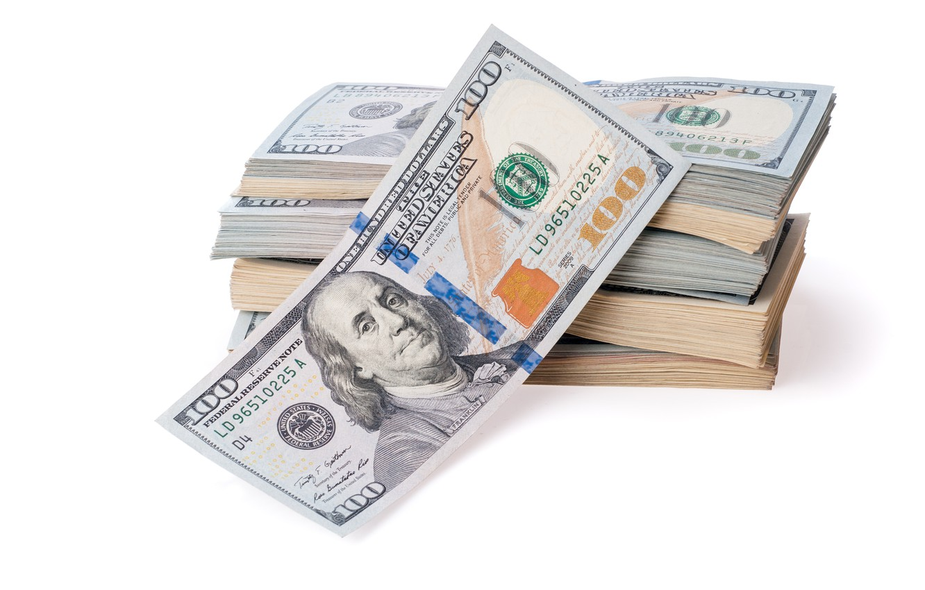 Photo wallpaper money, dollars, currency, fortune, papapes