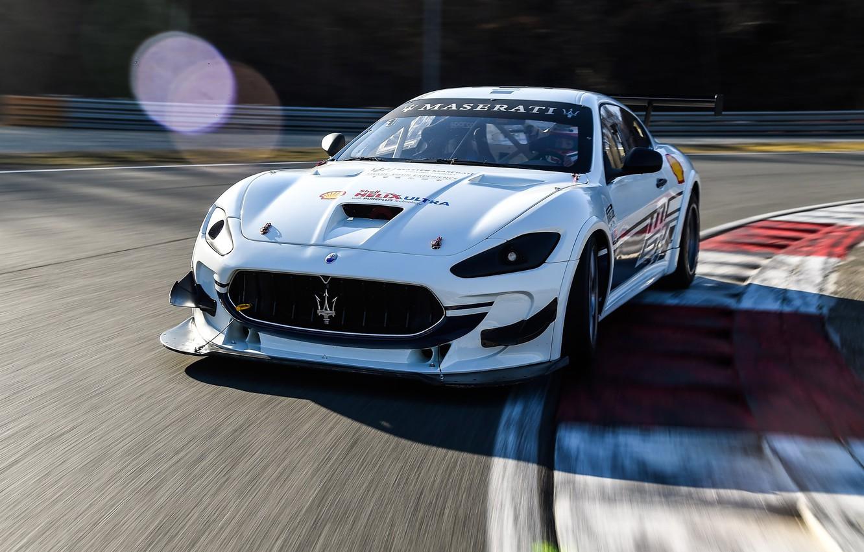 Photo wallpaper Maserati, racing car, GranTurismo, racing track, GT4, MC, 2019