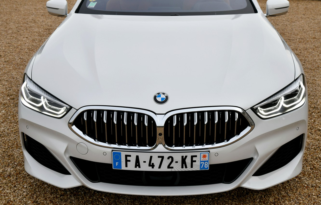 Photo wallpaper white, coupe, BMW, before, 2018, 8-Series, Eight, G15, 840d xDrive M Sport