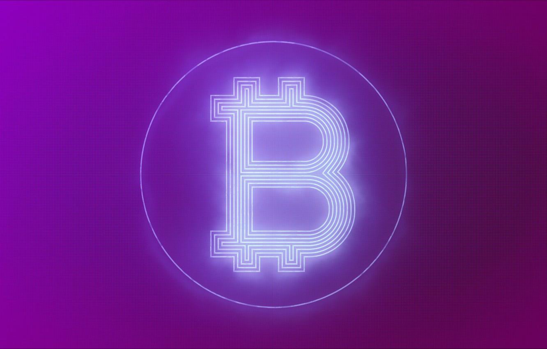 Photo wallpaper background, lilac, logo, logo, fon, bitcoin, bitcoin, btc