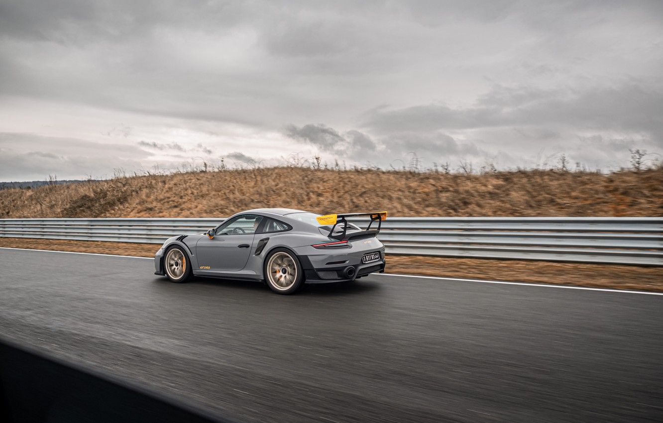Photo wallpaper overcast, speed, 911, Porsche, racing track, GT2 RS, 991, Edo Competition, 2020