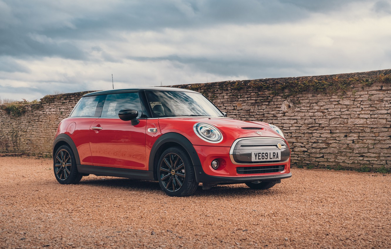 Photo wallpaper red, Mini Cooper, MINI, 2020, SE, Level 3