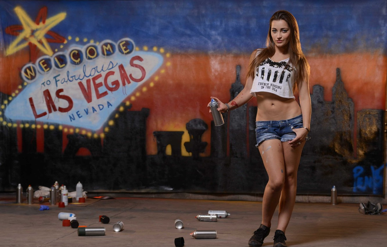 Photo wallpaper girl, graffiti, model, las vegas, pornstar, dani daniels