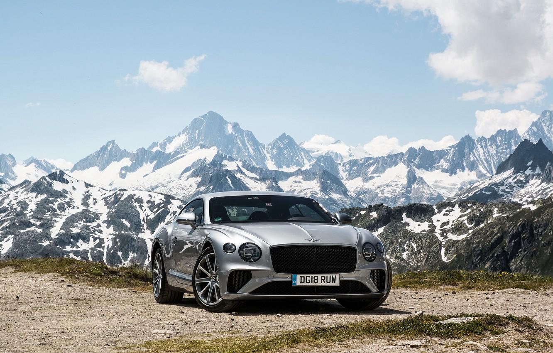 Photo wallpaper Bentley, Continental, 2018, the mountains
