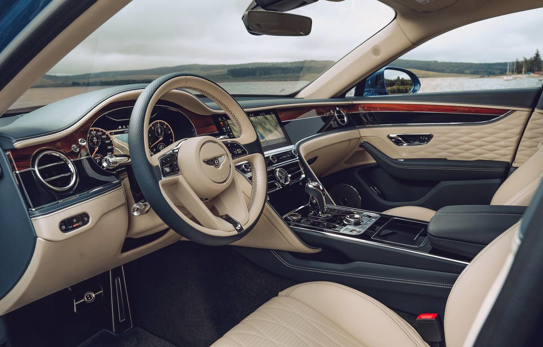 Photo wallpaper Bentley, the wheel, salon, Bentley Continental, Bentley Continental Flying Spur, Bentley Continental Flying