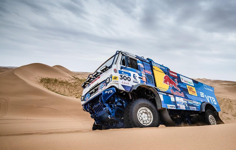Photo wallpaper Sand, Auto, Sport, Machine, Speed, Truck, Russia, Race, Russia, Speed, 300, Kamaz, Rally, KAMAZ-master, Rally, …