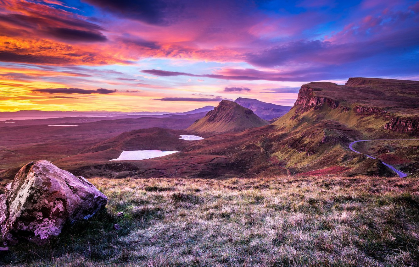 Photo wallpaper sunset, Scotland, Scotland, Isle of Skye