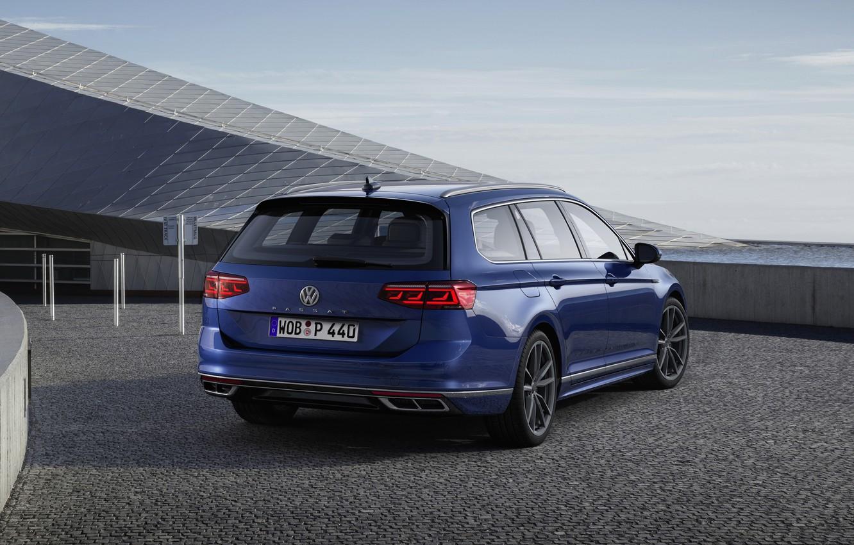 Photo wallpaper blue, Volkswagen, ass, universal, Passat, R-Line, Variant, 2019