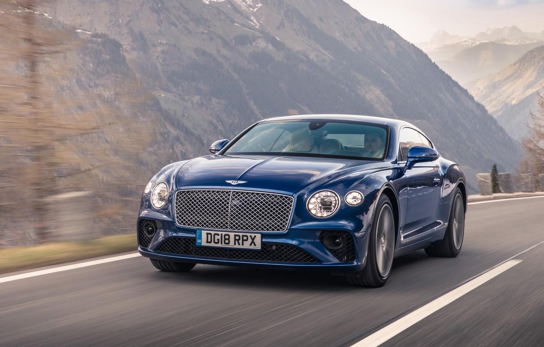 Photo wallpaper Bentley, Continental, 2018, Bentley Continental GT, Sequin Blue