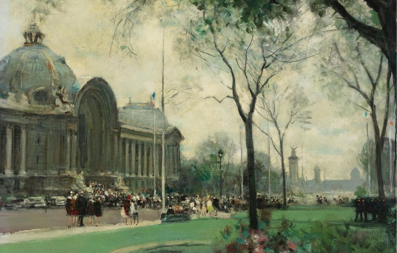 Photo wallpaper picture, the urban landscape, Small Palace. Paris, Jules Rene Herve, Jules Rene Herve