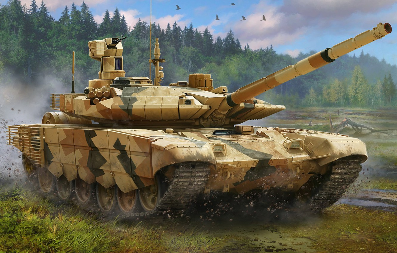 Photo wallpaper Russia, the armed forces of Russia, main battle tank, MBT, MBT, T-90MC