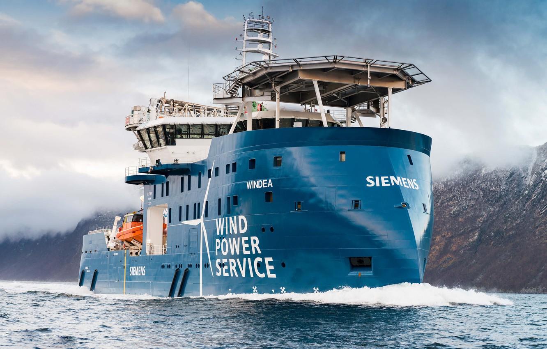 Photo wallpaper Sea, Mountains, The ship, Tank, Offshore, Offshore Supply Ship, Supply Ship, M/V Windea, Windea Offshore, …