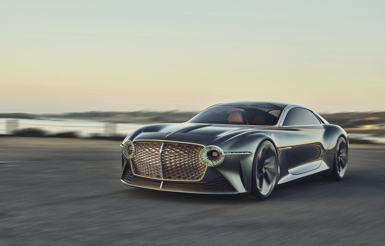 Photo wallpaper coast, coupe, Bentley, concept car, 2019, EXP 100 GT
