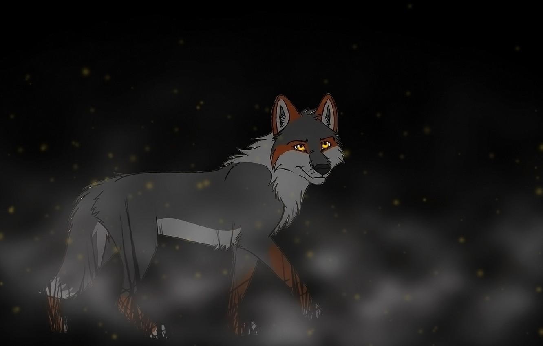 Photo wallpaper background, wolf, art