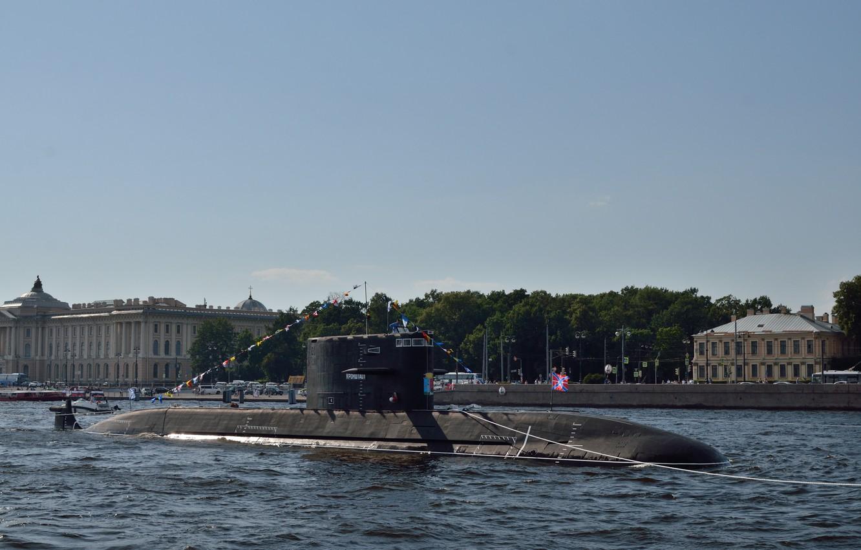 Photo wallpaper submarine, diesel, Kronstadt, the project 677