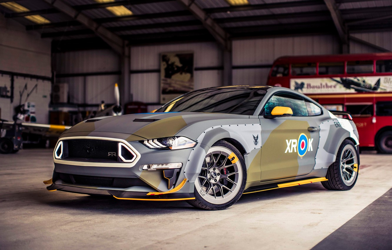 Photo wallpaper Ford, RTR, 2018, Mustang GT, Eagle Squadron