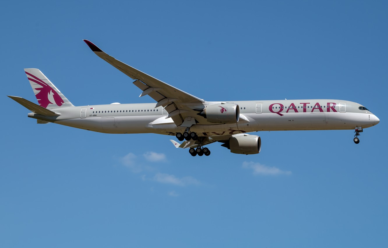 Photo wallpaper Airbus, Qatar Airways, A350-1000
