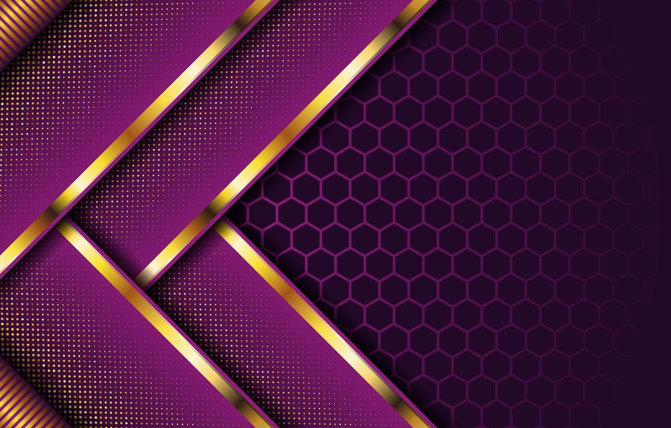 Photo wallpaper line, abstraction, background, texture, gold, background, dark purple