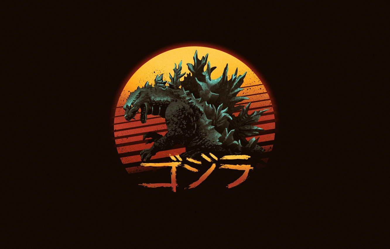 Photo wallpaper Minimalism, Background, Art, Godzilla, Gull, by Vincenttrinidad, Vincenttrinidad, by Vincent Trinidad, Vincent Trinidad, Rad King, …