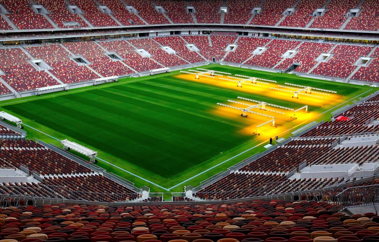 Photo wallpaper Field, Sport, Football, Russia, Stadium, Luzhniki, Stadium, Lawn, Tribune, Luzhniki, Luzhniki Stadium, The Main Stadium, ...