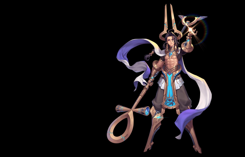 Photo wallpaper the game, fantasy, art, costume design, Purple Moon, SCI-FI ANUBIS