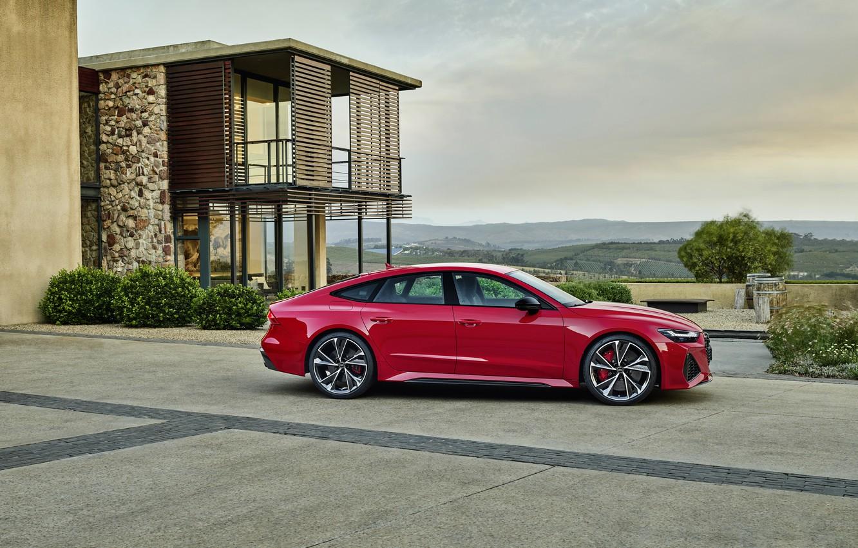 Photo wallpaper Audi, side view, Sportback, RS 7, RS7, 2020