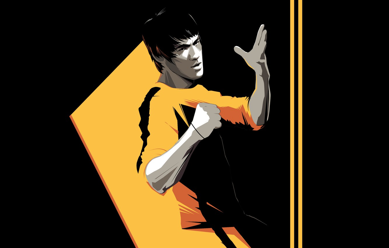 Wallpaper Minimalism Background Art Art Bruce Lee Bruce Lee