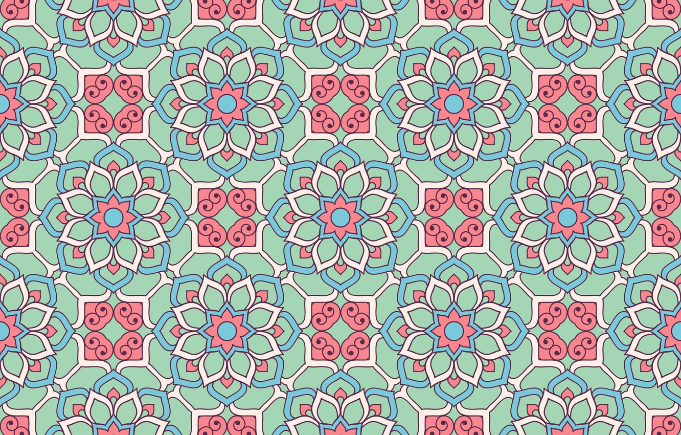 Photo wallpaper flowers, pattern, texture, ornament, pattern, floral, seamless