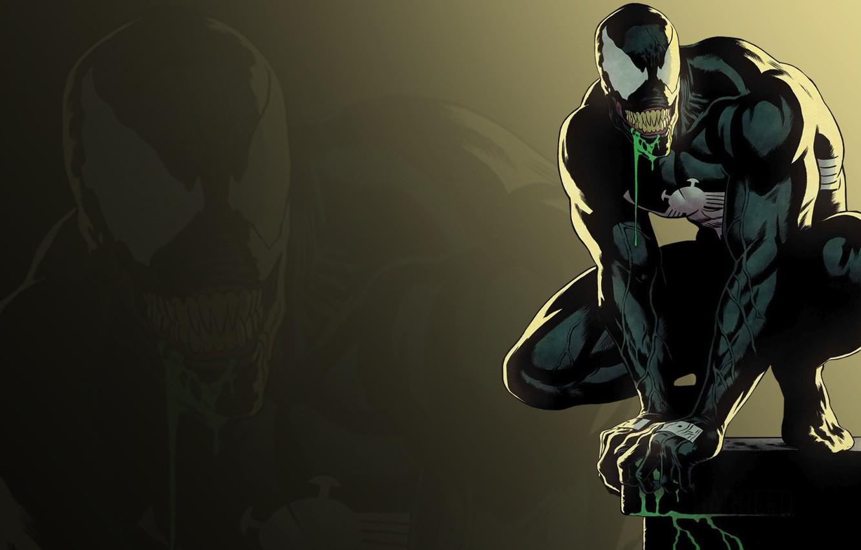Photo wallpaper language, teeth, marvel, Venom, Venom, tongue, symbiont, teeth, symbiote, Eddie Brock, Eddie Brock, by Rivera