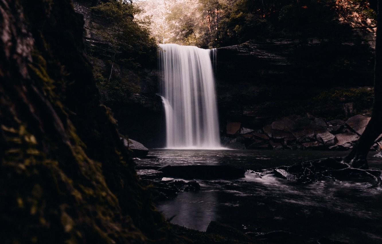 Photo wallpaper water, river, waterfall, Nature