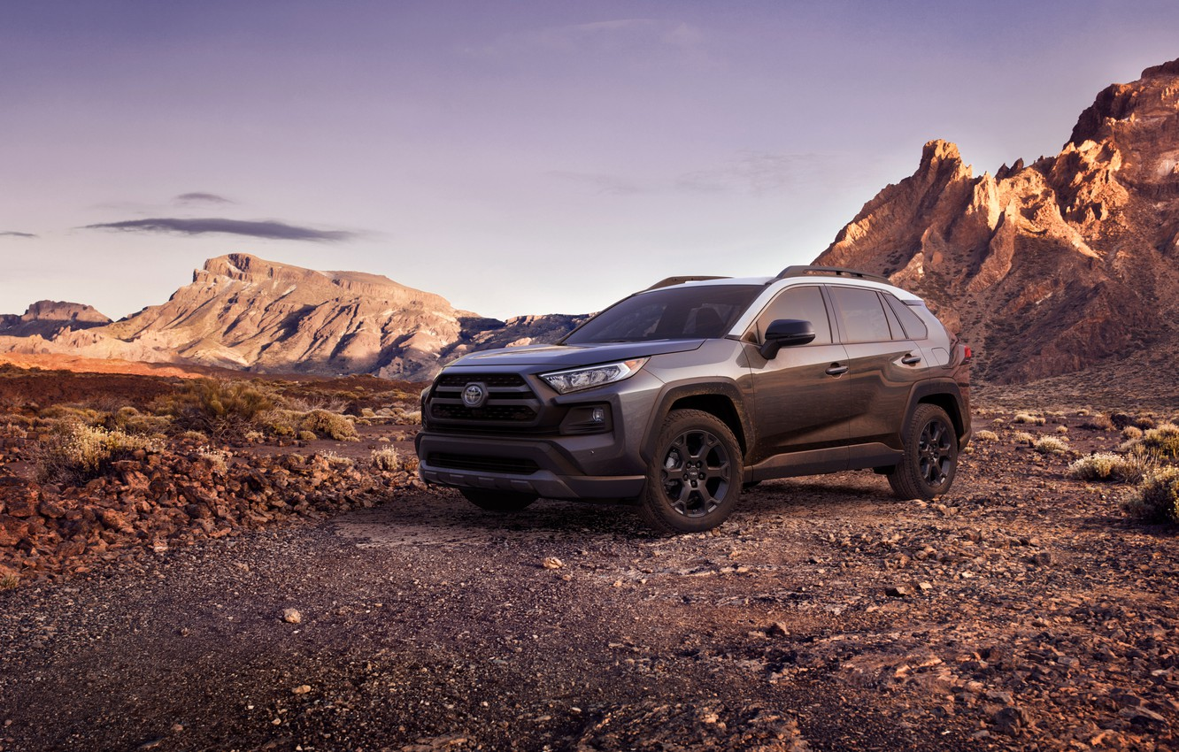 Photo wallpaper machine, mountains, Toyota, crossover, TRD, Off Road, RAV4, USA version