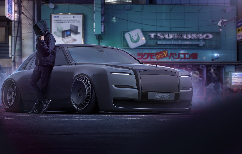 Photo wallpaper Auto, Rolls-Royce, People, Machine, The concept, Rolls Royce, Art, Rendering, Atmosphere, Dmitry Strukov, Dizepro, by …