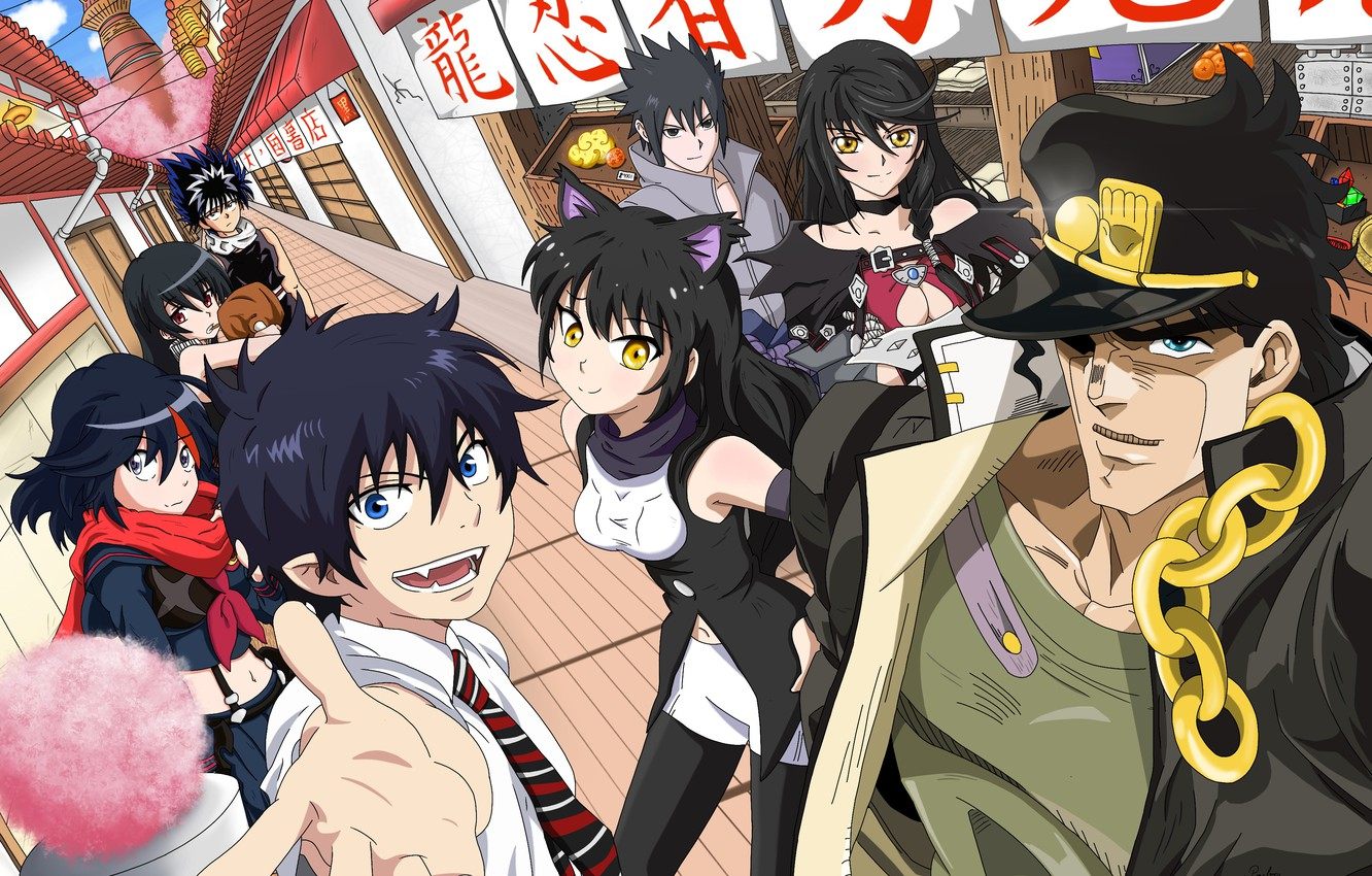 Photo wallpaper street, characters, Crossover