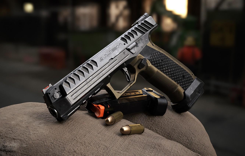 Photo wallpaper Czech Republic, Self-loading pistol, Alien 500