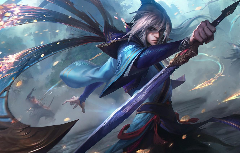 Wallpaper Anime Anime Killer Assassin League Of Legends Lol