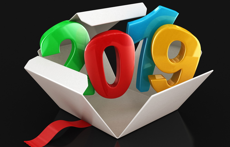 Photo wallpaper box, New year, New Year, 2019