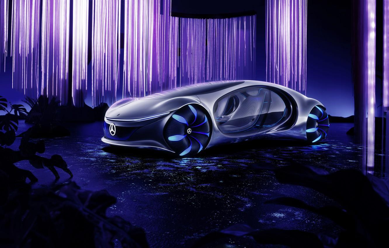 Photo wallpaper Vision, Mercedes Benz, 2020, AVTR, Mercedes Benz Vision AVTR, Mercedes Benz Vision