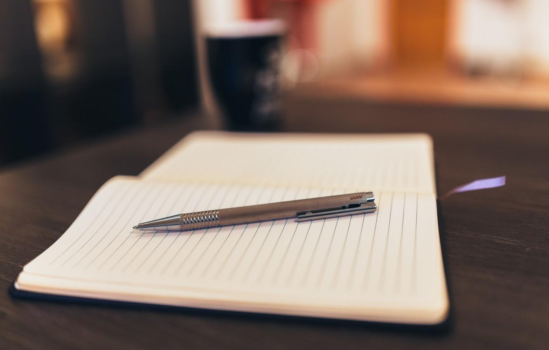 Photo wallpaper style, table, mood, coffee, handle, mug, Notepad