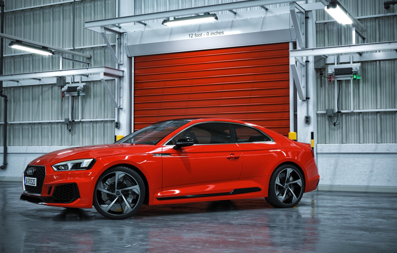 Photo wallpaper Audi, Red, Auto, Machine, Car, Auto, Render, RS5, Rendering, Audi RS5, Transport & Vehicles, by …