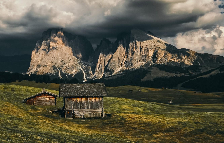 Photo wallpaper landscape, Alpe di Siusi, South-Tyrol
