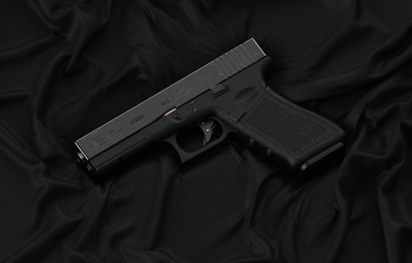 Photo wallpaper gun, weapons, pistol, weapon, Glock, Glock, Glock 17 gen 4