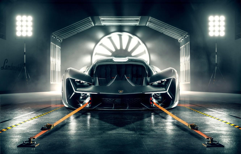 Photo wallpaper Lamborghini, Light, Front, View, Hypercar, The Third Millennium